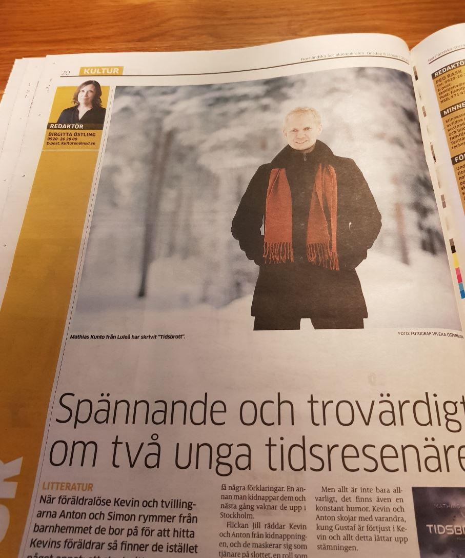 Recension av Tidsbrott i Norrländska Socialdemokraten (NSD)